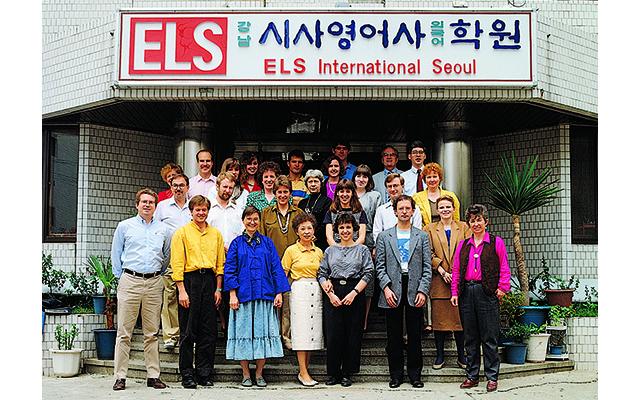 ソウルのカンナムにて、 ELSインターナショナルソウルの開校式